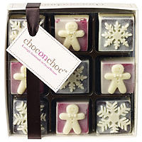 Choc on Choc Gingerbread & Snowflakes