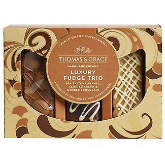 Thomas and Grace Luxury Fudge Trio