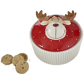 Grandma Wild's Ceramic Reindeer Biscuit Jar