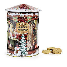 Santa's Workshop Rotating Musical Tin