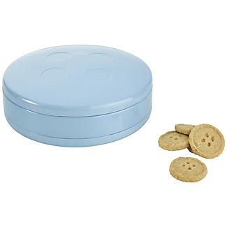 Button Shaped Biscuit Tin