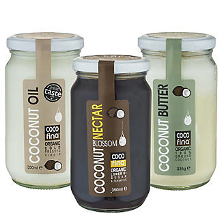 Cocofina Coconut Oil, Nectar, Butter Gift Pack