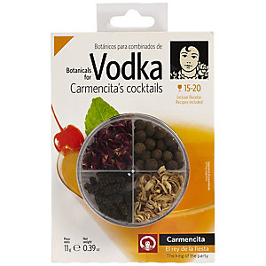 Carmencita Vodka Cocktail Botanicals