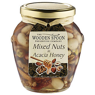 Wooden Spoon Mixed Nuts in Acacia Honey