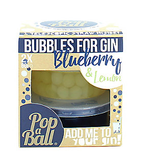 Blueberry and Lemon PopaBall® Bubbles for Gin