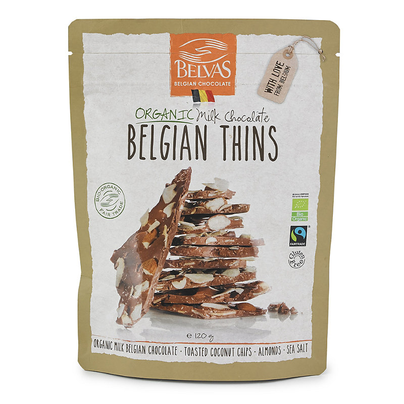 Organic Belgian Milk Chocolate Thins