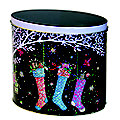 Glitter Stockings Biscuit Tin