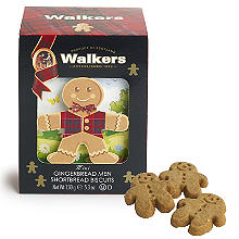 Walkers Mini Gingerbread Men Shortbread Biscuits 150g