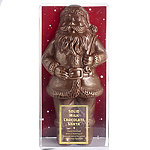 Solid Milk Chocolate Santa with Bronze Lustre 340g