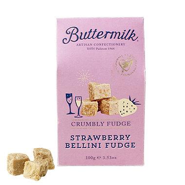 Buttermilk Strawberry Bellini Fudge 100g