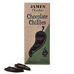 James Chocolates Dark Chocolate Chillies 60g