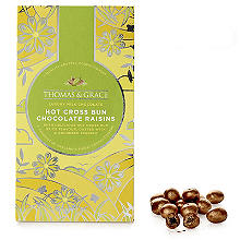 Thomas & Grace Hot Cross Bun Flavour Milk Chocolate Raisins 140g