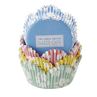100 Great British Bake Off Greaseproof Cupcake Cases - Pastel Colours