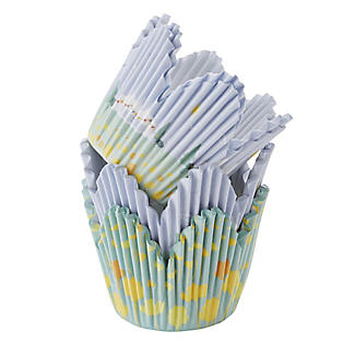 50 Great British Bake Off Fluted Greaseproof Cupcake Cases - Pastel