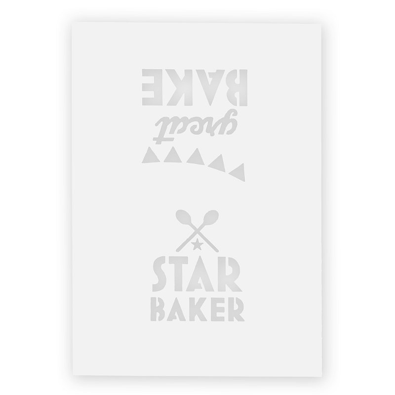Great British Bake Off 2 Star Baker Stencils