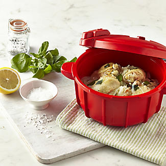 Microwave Cookware - Red Pressure Cooker 2.2L alt image 2