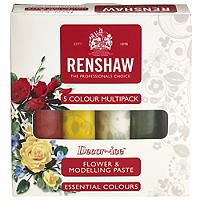 Renshaw Ready To Roll Coloured Icing - 5 x 100g Flowers Colours