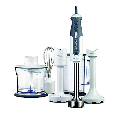 Kenwood White Triblade Mixer Stick Hand Blender Set