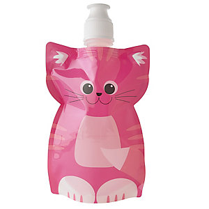 Fold Up Cat Water Bottle