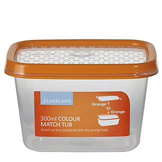 300ml Colour Match Lidded Food Storage Container