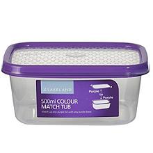 Vorratsbox mit Deckel und Farbsystem, 500 ml