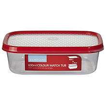 600ml Colour Match Lidded Food Storage Container