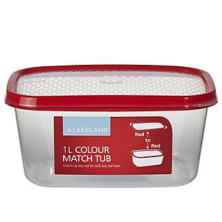1L Colour Match Lidded Food Storage Container alt image 1