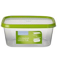 Vorratsbox mit Deckel und Farbsystem, 1,5 L
