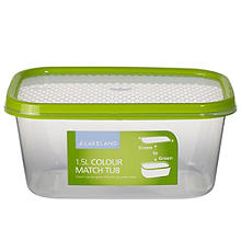 1.5L Colour Match Lidded Food Storage Container