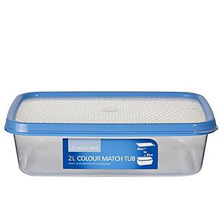Vorratsbox mit Deckel und Farbsystem, 2 L