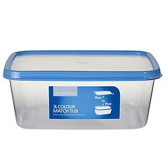 3L Colour Match Lidded Food Storage Container alt image 1