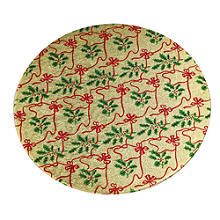 25cm Round Gold Christmas Cake Board