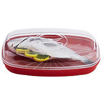 Microwave Cookware Stain Proof - Red Fish Steamer