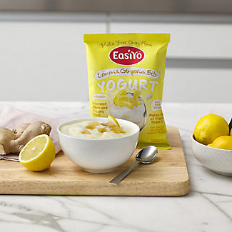 EasiYo Lemon & Ginger With Bits 1kg Yogurt Mix (4 x 230g) alt image 2