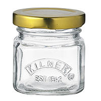 4 Kilner® Mini Shot Glass Jam Jars & Lids 55ml
