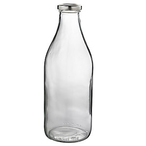 Lakeland 1L Glass Milk Bottle & Lid