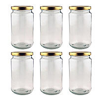 6 16oz Traditional Pickling Jars