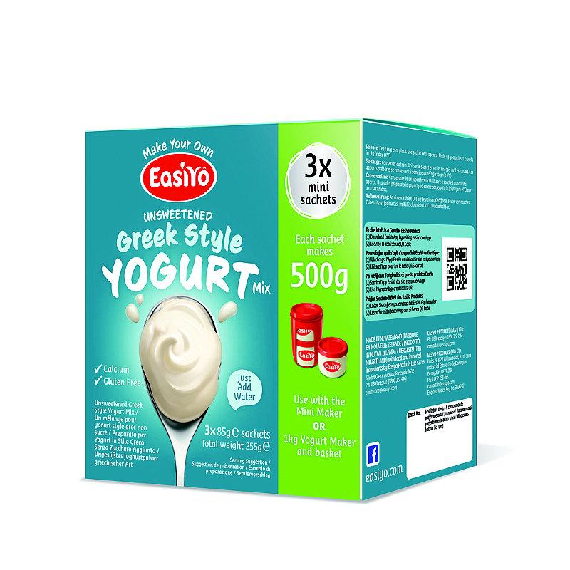 EasiYo Unsweetened Greek Style 500g Yogurt Sachet Mix