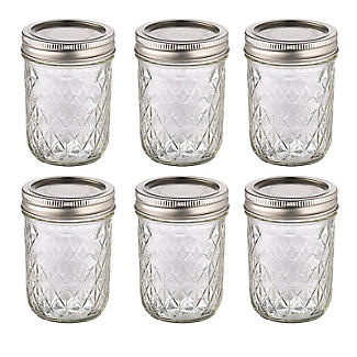 6 Ball® Mason Quilted Crystal Small Glass Jam