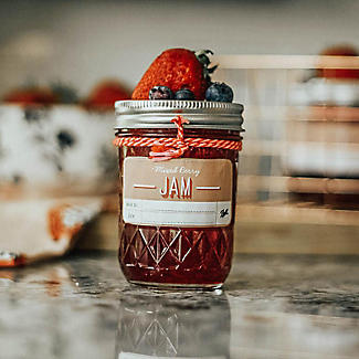 6 Ball® Mason Quilted Crystal Small Glass Jam Jars & Lids 240ml alt image 2