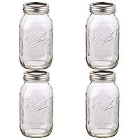 4 Ball® Mason Large Glass Jam Jars &