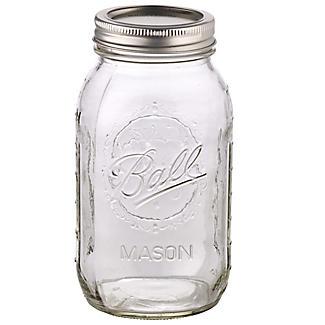 4 Ball® Mason Large Glass Jam Jars & Lids 945ml alt image 4