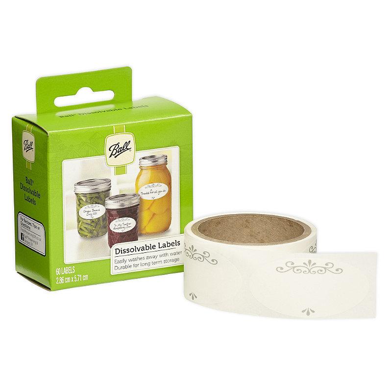 60 Ball® Self Adhesive Dissolvable Jam Jar Labels
