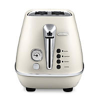 Delonghi Distinta Pure White 2 Slice Toaster