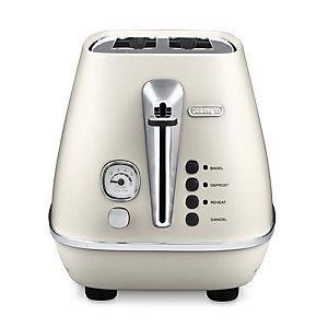 Delonghi Distinta Pure White 2 Slice Toaster