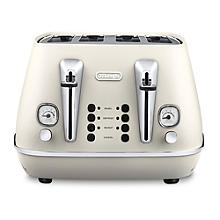 Delonghi Distinta Pure White 4 Slice Toaster