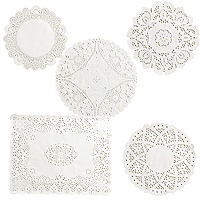 120 Assorted Doilies