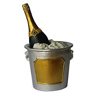 Champagne Bucket Cake Topper