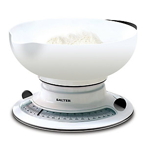 Salter Mechanical White Kitchen Weighing Scale