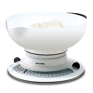 Salter Mechanical White Kitchen Weighing Scale alt image 1